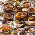Various indian food buffet, collage Royalty Free Stock Photo