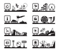 Various industries with logos vector illustration Royalty Free Stock Images