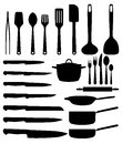 Various kitchen utensil drawing Stock Image