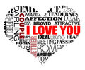 Various love words Royalty Free Stock Photography