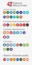 Various media polygon Icons (Set 1)