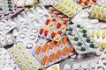 Various medicine pills Royalty Free Stock Photo