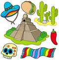 Various Mexican images Royalty Free Stock Photo