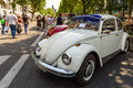 Various modifications Volkswagen Beetle standing in a row. Royalty Free Stock Photo