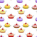Various moods of cake illustration an array cakes with Stock Photo