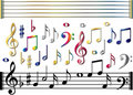 Various music notes set Stock Photography