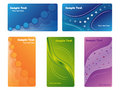 Various new business cards Stock Photo
