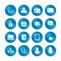 Various office icons with special design Royalty Free Stock Image