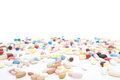Various pharmaceuticals all on white background Royalty Free Stock Photos
