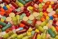 Various pills Royalty Free Stock Photo