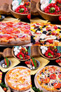 Various pizza Stock Photography