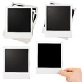 Various polaroid photo frames set isolated on white Stock Image