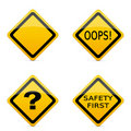 Various road sign icons Stock Images