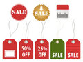 Various sale tags Royalty Free Stock Images