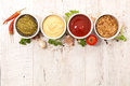 Various of sauces Royalty Free Stock Photo
