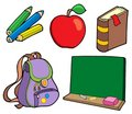 Various school items Stock Photography