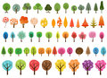 Various set of vector trees Royalty Free Stock Photo