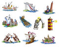 Various ships_4 Royalty Free Stock Photos