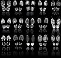 Various shoe print Stock Images
