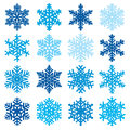 Various snowflake shapes decorative winter set vector illustration Royalty Free Stock Photo