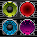 Various speakers Royalty Free Stock Image