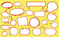 Various speech bubbles Royalty Free Stock Photography