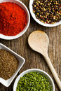 Various spices. Stock Photos