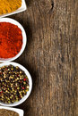 Various spices. Royalty Free Stock Photos
