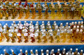 Various spirits in the street market at campo de fiori square in rome Stock Photos