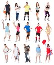Various sports people Stock Photo
