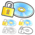 Various styles of compact disk sets household items vector icon series Royalty Free Stock Image