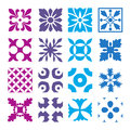 Various styles of round grid sets original pattern and symbol series Stock Photos