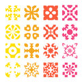 Various styles of round grid sets original pattern and symbol series Royalty Free Stock Photo