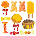 Various sweets illustration of on a white background Stock Photo