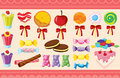 Various sweets and wallaper Royalty Free Stock Image