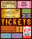 Various ticket designs a collection of vector illustration Royalty Free Stock Images