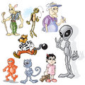 Various Toons Royalty Free Stock Images