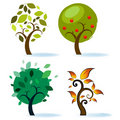 Various Tree Designs Royalty Free Stock Images