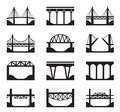 Various types of bridges vector illustration Royalty Free Stock Image