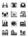 Various types of construction vector illustration Royalty Free Stock Image