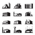 Various types of construction vector illustration Stock Photo