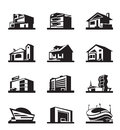 Various types of construction vector illustration Royalty Free Stock Images