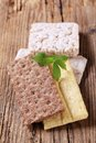 Various types of crisp bread Stock Image