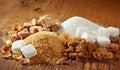 Various types of sugar Royalty Free Stock Photo