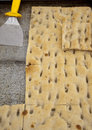 Various types of tipical ligurian salted cakes called focaccia Royalty Free Stock Photo