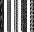 Various tyre treads Stock Images