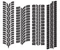 Various tyre treads vector illustration of the Stock Photos