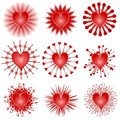 Various Valentine Hearts Clip Art Icons Royalty Free Stock Image