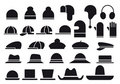 Various vector hats Stock Images