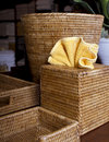 Various Wicker Basket Containers Royalty Free Stock Photos